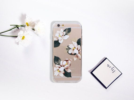 Flower iPhone 7 6 6S Case Floral Clean Transparent by GreenyView