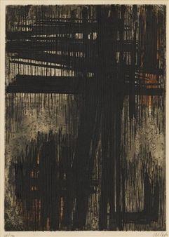 Eau-forte nº 7 By Pierre Soulages ,1957
