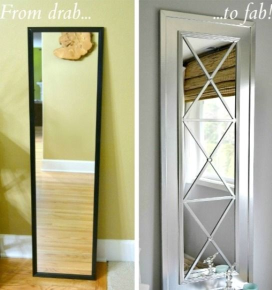 Mirror makeover below are the supplies to make this for Inexpensive framed mirrors