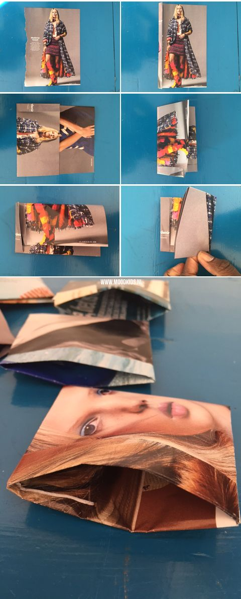 Een zakje vouwen van papier doe je zo   Moodkids