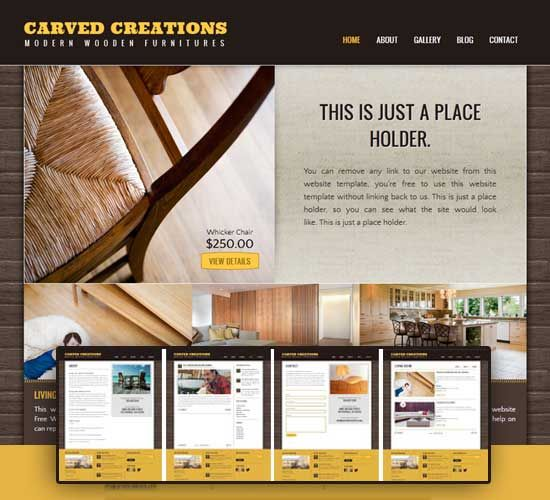 Portfolio Css Template Website Templates Professional Example Business Html We