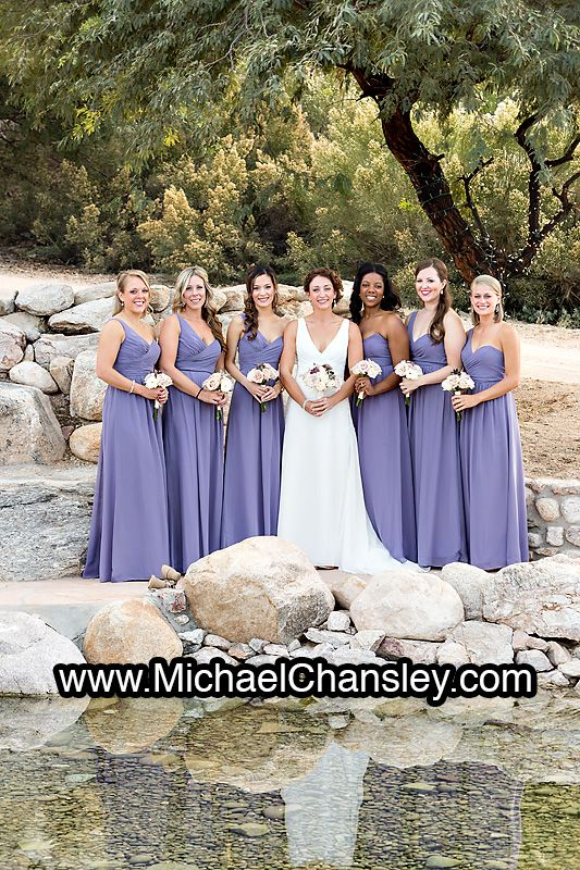 Bride And Bridesmaids Pose For A Portrait At Saguaro Buttes Wedding Venue In Tucson AZ Arizona By Michael Chansley Photography Photographer