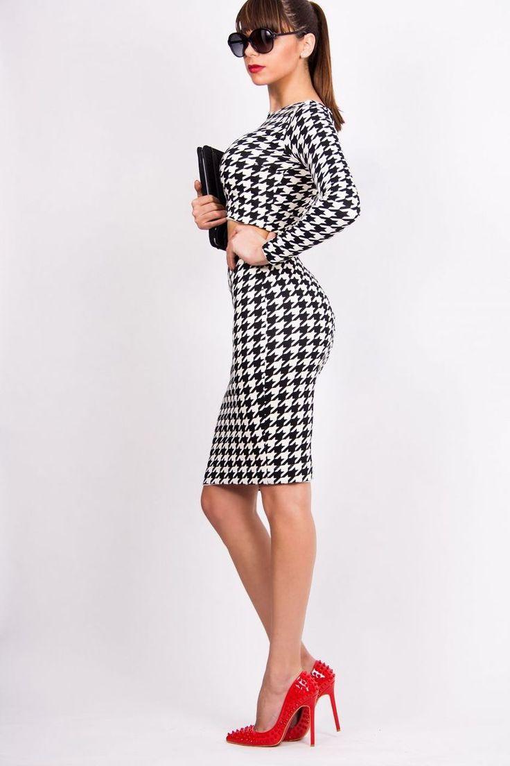 Two Piece Black and White Set - Baronesa Fashion House
