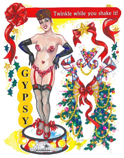2005 Gypsy Rose Lee. Twinkle While You Shake It! Not for purchase.  By David Wolfe, Paperdollywood.