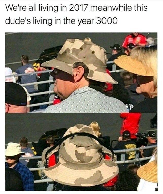 NASCAR scanner hat
