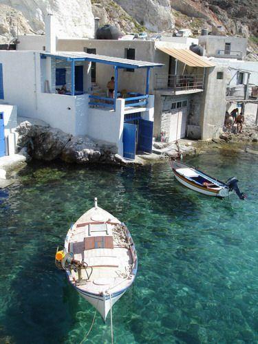 Fyropotamos village in Milos, Greece