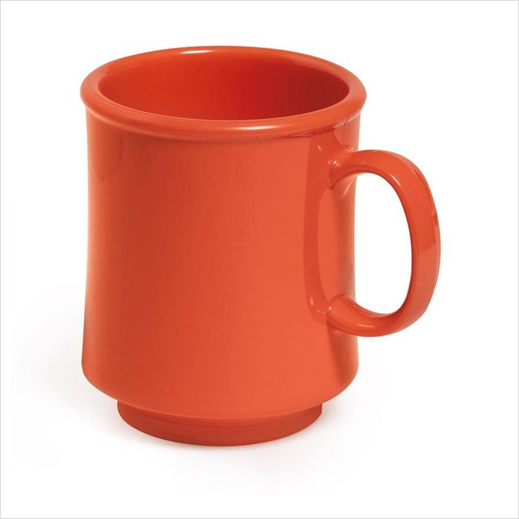 8 oz 3.25 x 3.75 Stacking Mug Rio Orange Tritan/Case of 24 Tags:  Coffee Cups; Cups and Mugs; Plastic Coffee Cups;Plastic Orange Coffee Cups;Plastic Round Coffee Cups; https://www.ktsupply.com/products/32807345640/8-oz-325-x-375-Stacking-Mug-Rio-Orange-TritanCase-of-24.html