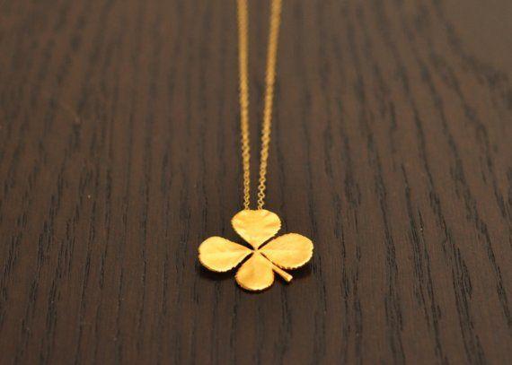 Gold-Dipped ShamrockGold Dips Shamrock, Lucky, I M Irish, Jewelry Junction, Shamrock Necklaces, Feelings Green, Patricks, Emeralds Isle, Leaf Clovers