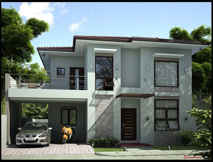 Simple Modern Homes front affordable contemporary modern home plan with family living