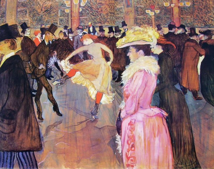 Henri de Toulouse-Lautrec, Ballo al Moulin Rouge, 1890. cm. 150, Collezione Mcllhenni, Filadelfia
