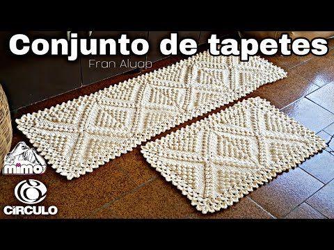 Conjunto de tapetes de crochê para cozinha - Fran Aluap Tapete passadeira de crochê - YouTube