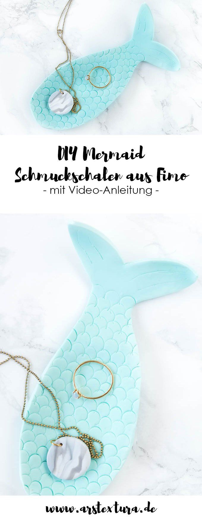 Mermaid Schmuckschale aus Fimo – ars textura – ARS TEXTURA – DIY-Ideen, Deko, Geschenkideen & Rezepte