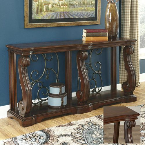 Narrow-Console-Table-Hallway-Entryway-Storage-Furniture-Rustic-Sofa-Foyer-Wooden