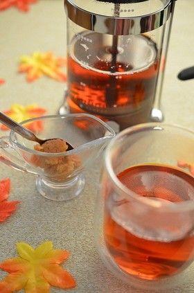 【赤&青林檎と干し芋のフルブラティー】今流行りのフルブラ、秋バージョンです。もうブランデーはおっさんの飲み物とは言わせない!