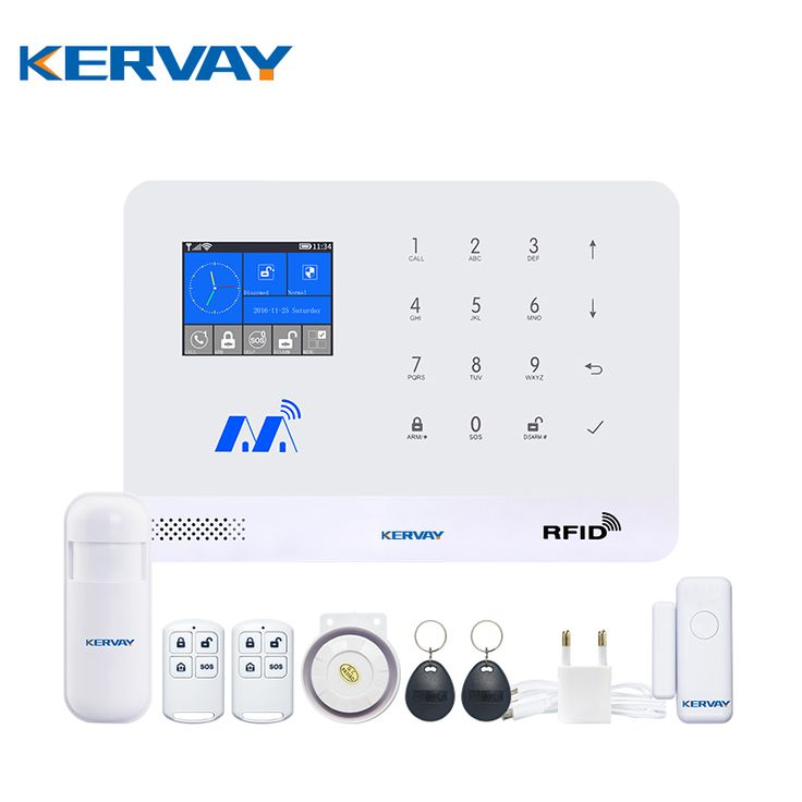Kervay WIFI GSM RFID Home u003cfontu003eu003cbu003ealarmu003c/bu003e  sc 1 st  Pinterest & Best 25+ Door security system ideas on Pinterest | Security locks ... pezcame.com