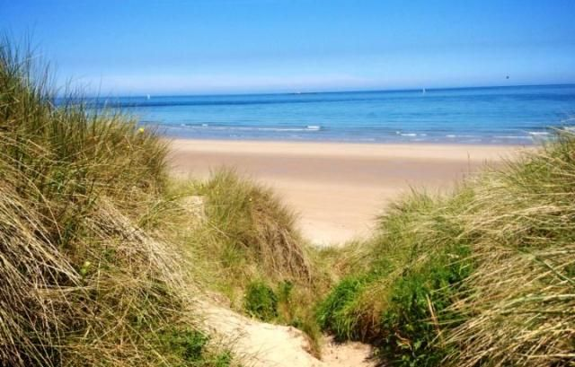 Bamburgh beach Northumberland
