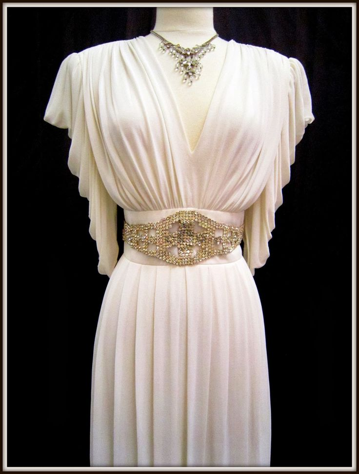 1940's FABULOUS WEDDING GOWNS | This one of a kind 1940's gown is approximately a size 10 - 12 and is ...