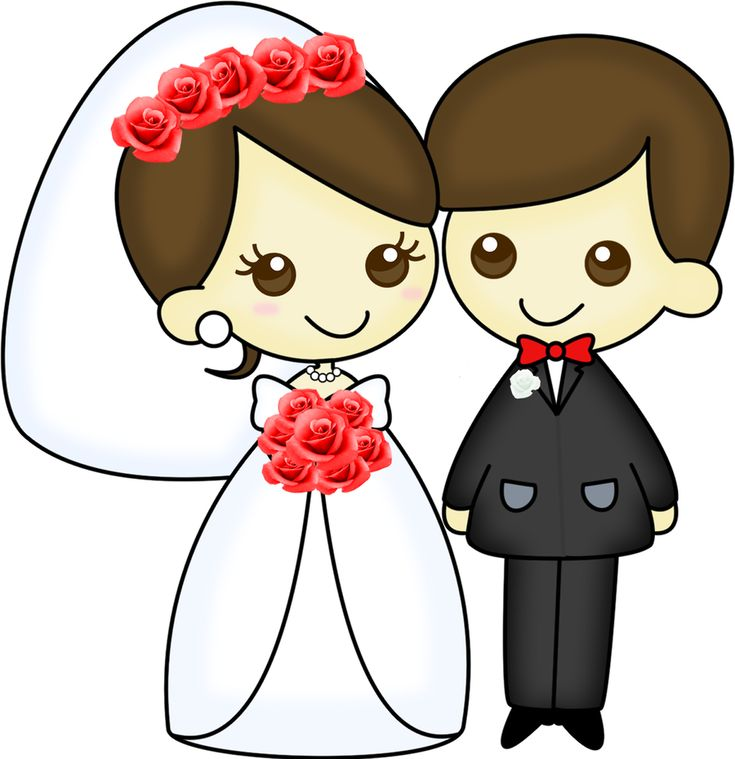Dibujos. Clipart. Digi stamps - Wedding - Novios - Boda