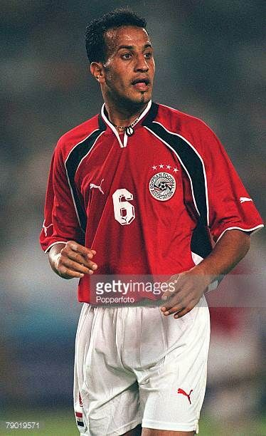 Football 2002 World Cup Qualifier African Second Round Group C 30th June 2001 Rabat Morocco 1 v Egypt 0 Egypt's Reda El Sayed