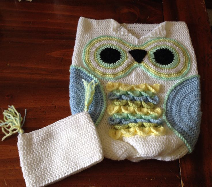 Crochet Owl Baby Bunting Pattern : The 531 best images about Crochet Baby Cocoons and ...