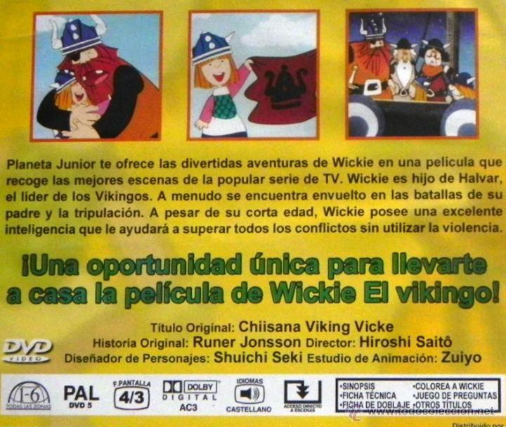 Cine: WICKIE EL VIKINGO - DVD LA PELÍCULA BASADA EN SERIE DE TELEVISIÓN INFANTIL DIBUJOS ANIMADOS - VICKIE - Foto 2 - 45887149