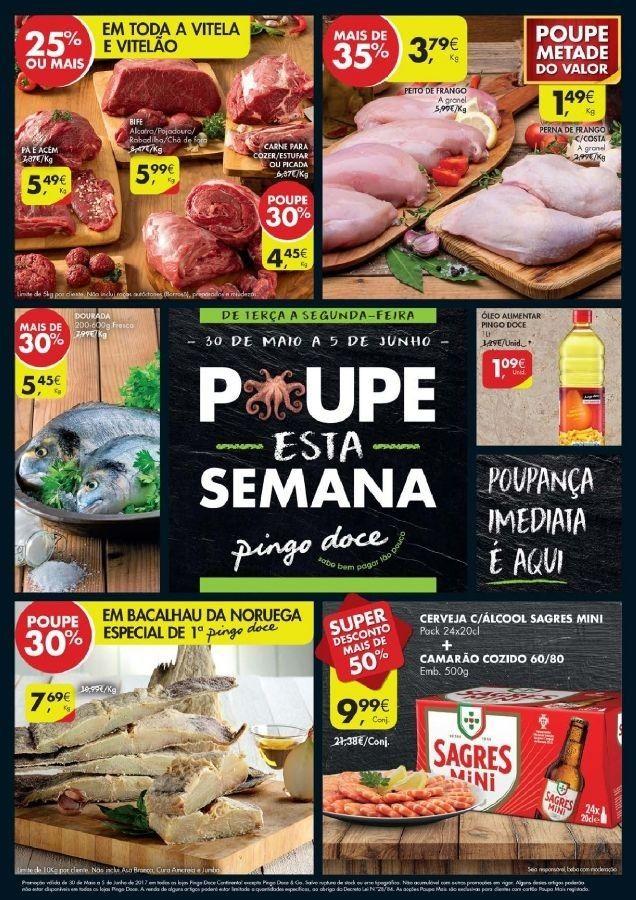 Folheto #PingoDoce Poupe Esta Semana em vigor nas lojas pequenas de 30 Maio a 05 Junho.