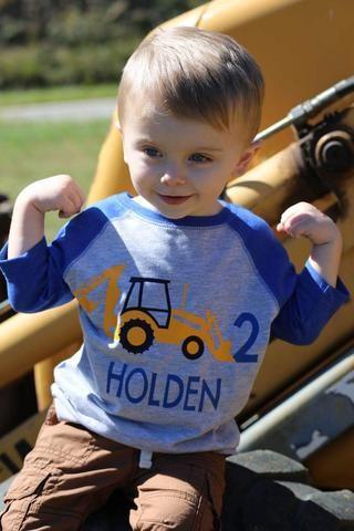 Construction Birthday Shirt, Backhoe Shirt, Construction Truck Shirt, Boys Birthday Shirt