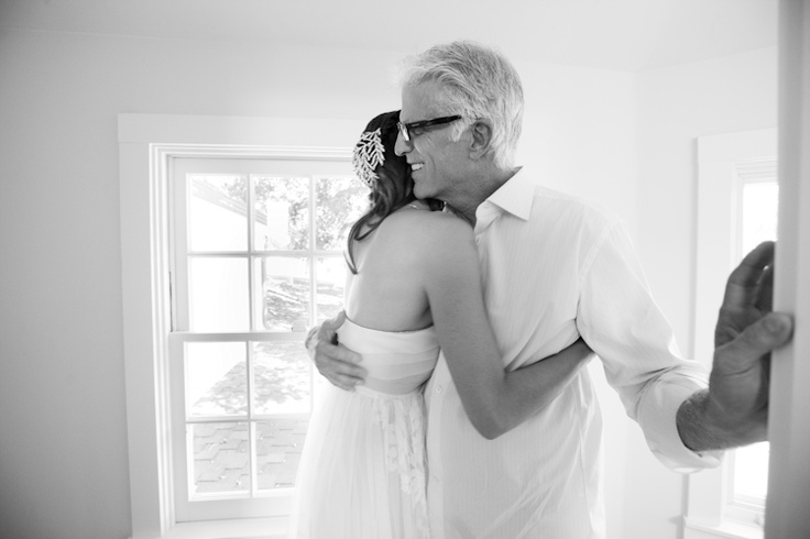 Kate Danson with Dad, Ted Danson. / I want a father-daughter moment picture taken on my wedding day.
