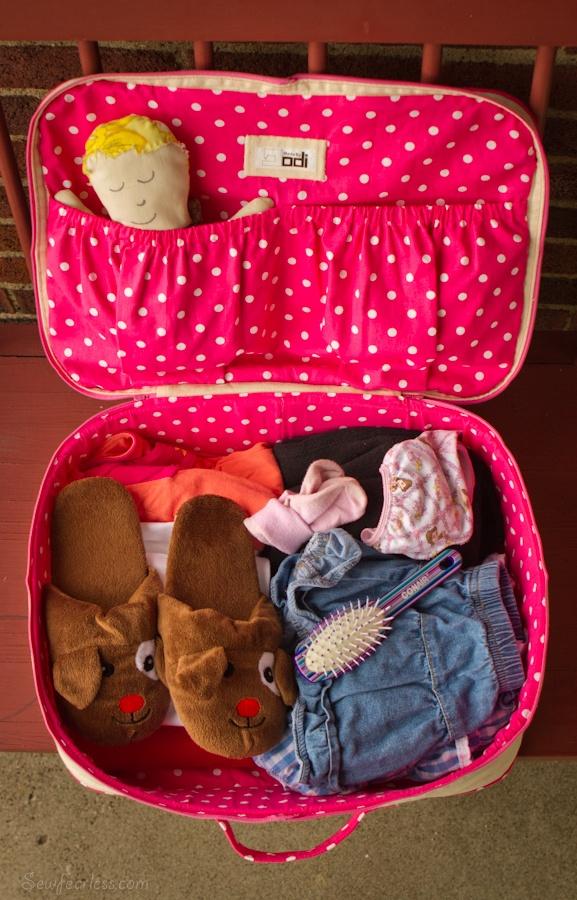 Suitcase pattern koffer zelfmaken patroon kinderen kids