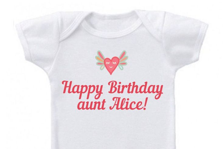Personalized baby onesie - Happy Birthday aunt, custom baby outfit for aunt's birthday, personalized baby clothes by OldCauldronGifts on Etsy