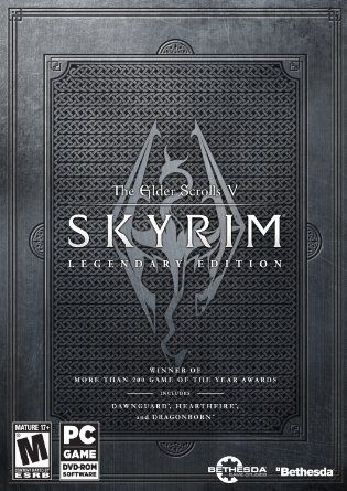 Amazon.com: The Elder Scrolls V: Skyrim Legendary Edition - PC: Video Games - The Empire of Tamriel is on the edge. The High King of Skyrim has been murdered. Alliances form as claims to the throne are made. In the midst of this conflict, a far more dangerous, ancient evil is awakened. Dragons, long lost to the passages of the Elder Scrolls, have returned to Tamriel.
