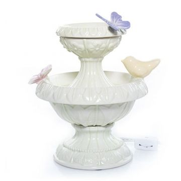enchanted garden butterfly birdbath electric wax melts warmer yankee candleu2026