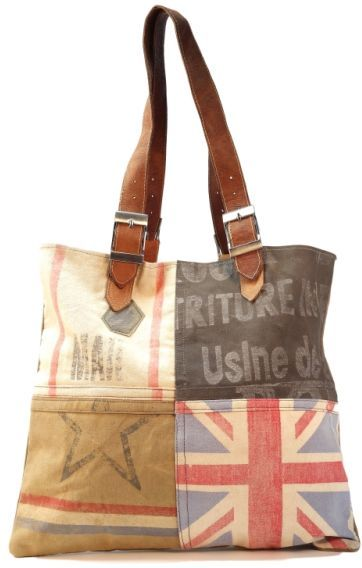 London Union Jack Multi Colored Buckle Bag / Like us on Facebook! www.Facebook.com/AllysonsPlaceDecor / #Vintage #Eco #Inspired #Sustainable #Repurposed #Green #French Indigo Imports Mona B CTW