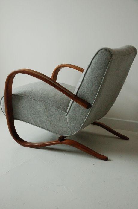 Jindrich Halabala H269 armchair, antique, art deco, retro, vintage, Danish,