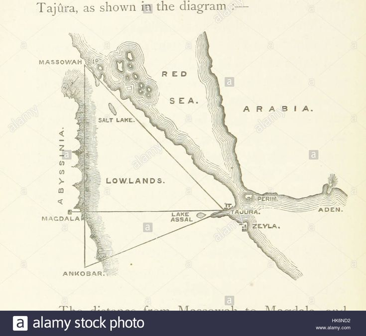 Africa Map Horn Of Africa%0A Download this stock image  Image taken from page    of  u    Reconnoitring in  Abyssinia  a narrative of the proceedings of the reconnoitring party
