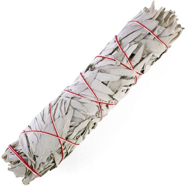 9 inch white sage smudge stick