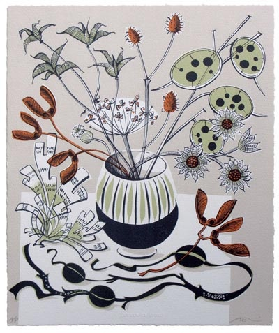 Angie Lewin, Autumn, lithograph