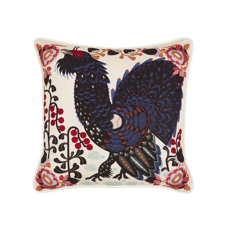 Buy Klaus Haapaniemi & Co Heather Cock Cushion - 45x45cm - White | Amara