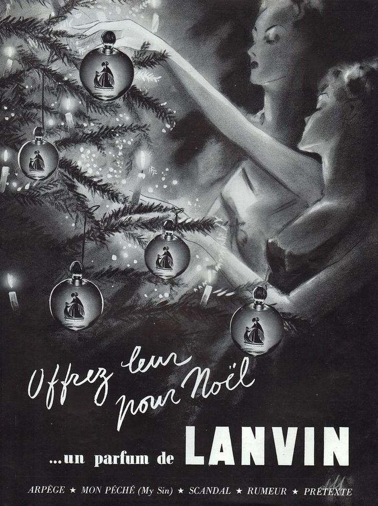 PUBLICITE  PARFUM LANVIN   PERFUME    AD  1938  / 5F