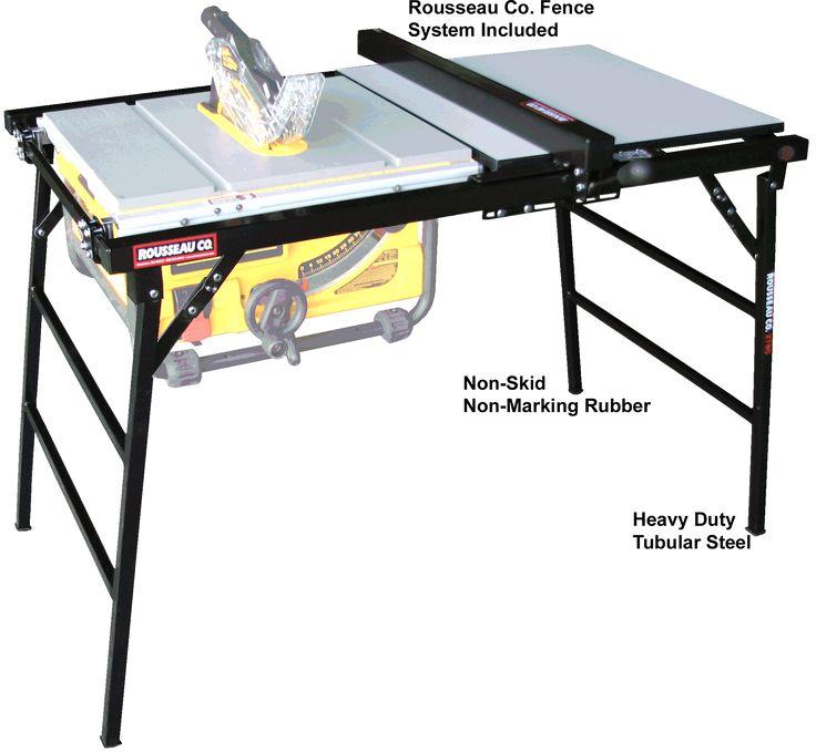 Marvelous Rousseau Portamax Model 2780 Table Saw Stand, For Bosch, DELTA, MAKITA,  RIDGID