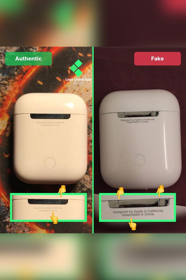 Airpods Case Fake Vs Real Guide Lca Fake Check In App Apple Headphone