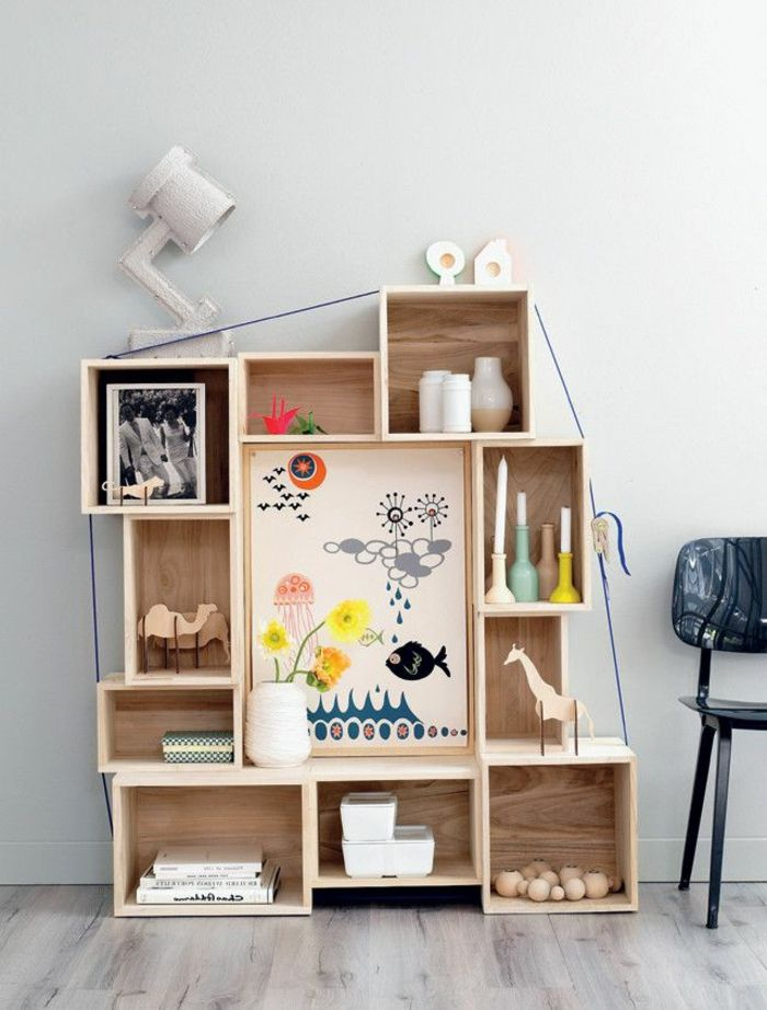 1000 id es propos de etagere cube bois sur pinterest meuble cube stockage de cube et. Black Bedroom Furniture Sets. Home Design Ideas