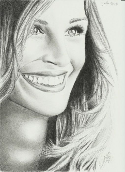 Julia Roberts i wanna color this and put it on http://kleurvitality.blogspot.be
