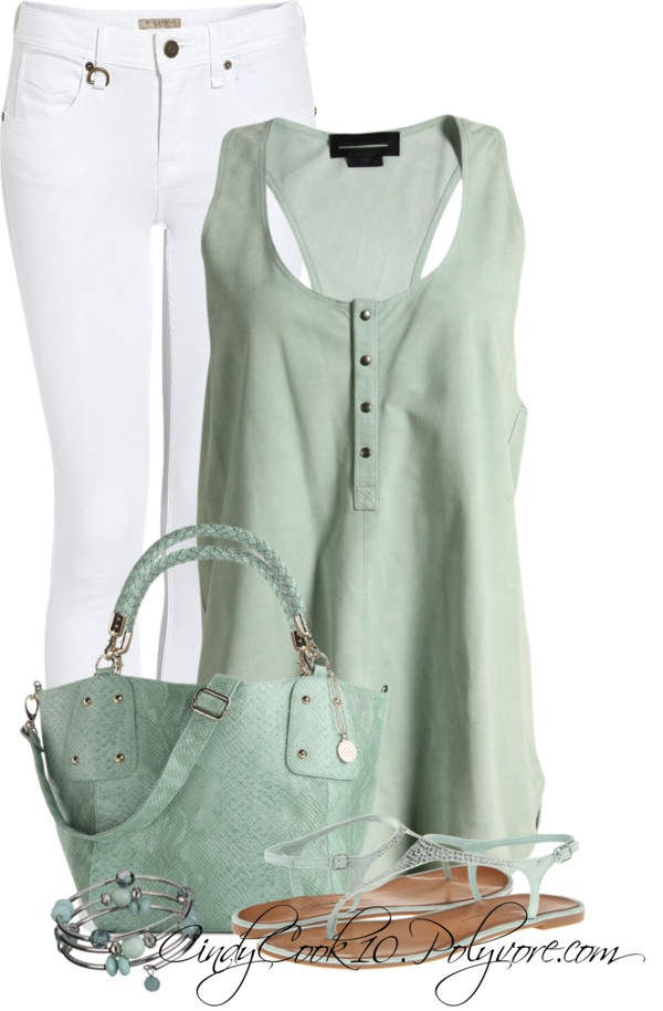 """""""Jeans and Tank"""" by cindycook10 on Polyvore"""