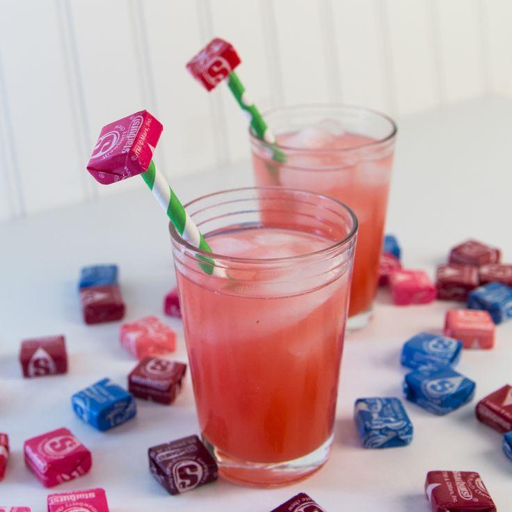 Pink starburst drink! Vodka, Malibu, whipped cream vodka, orange juice, Simply Raspberry lemonade.