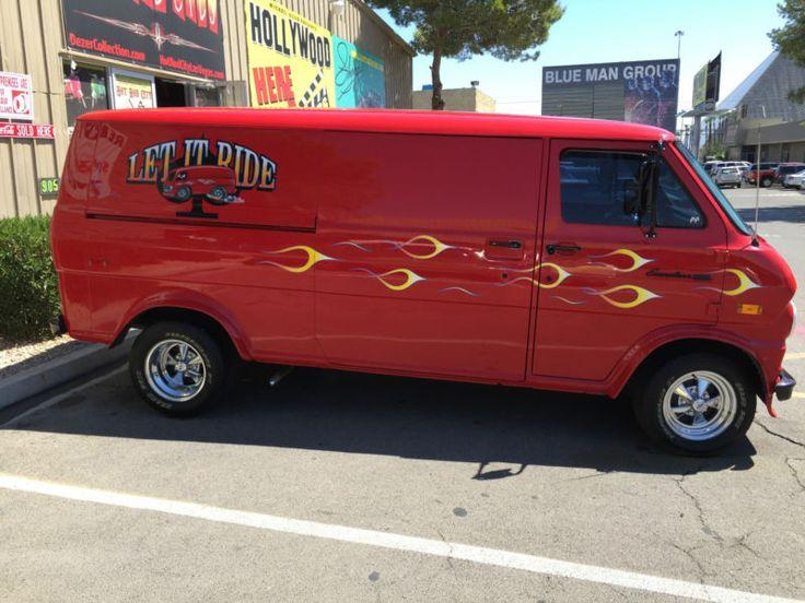 """""""Let It Ride"""" custom 1974 Ford van"""