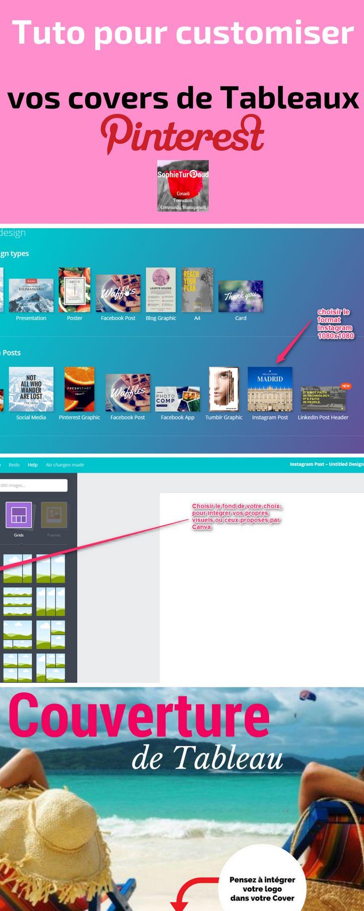 Tuto Infographie  pour customiser vos covers de tableaux #Pinterest via @sophieturpaud