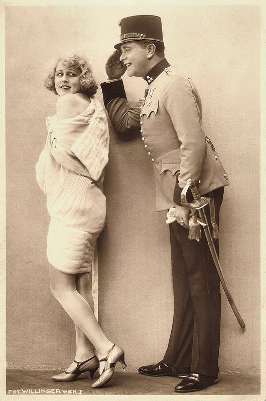 """Xenia Desni and Willy Fritsch in """"Ein Walzertraum"""" (The Waltz Dream, Ludwig Berger, 1925), based on the Oscar Strauss operetta."""