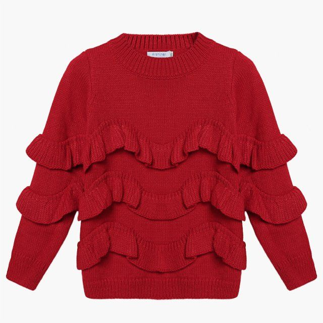 Arshiner Girls Cute Ruffles Knitted Pullover Sweater $21.92 Free Shipping!