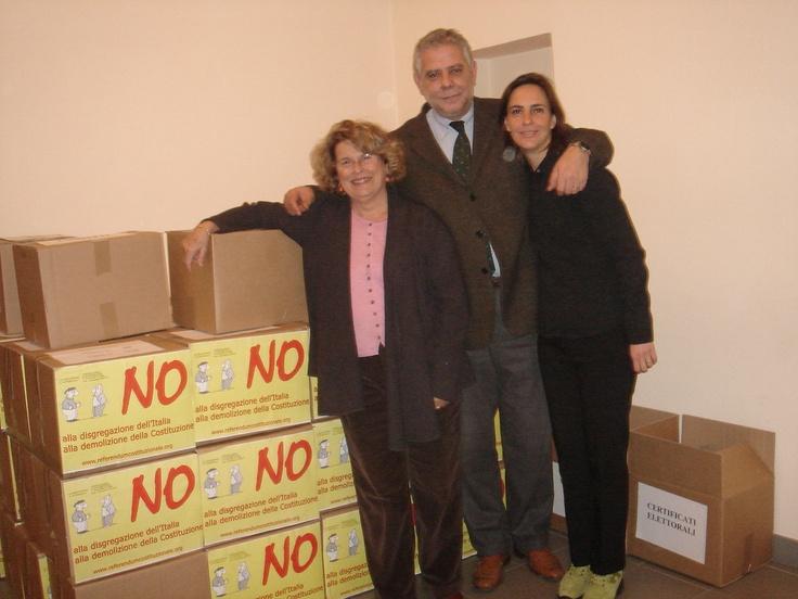 Io, Sandra Bonsanti e Maurizio Chiocchetti  Referendum costituzionale - Roma 2006